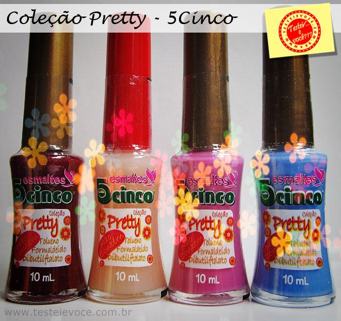 Swatches: Esmaltes 'Pretty' – 5Cinco