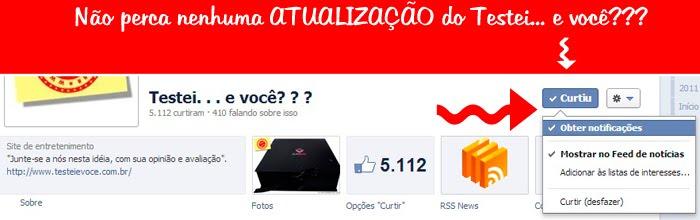 Recado: FanPage do Facebook