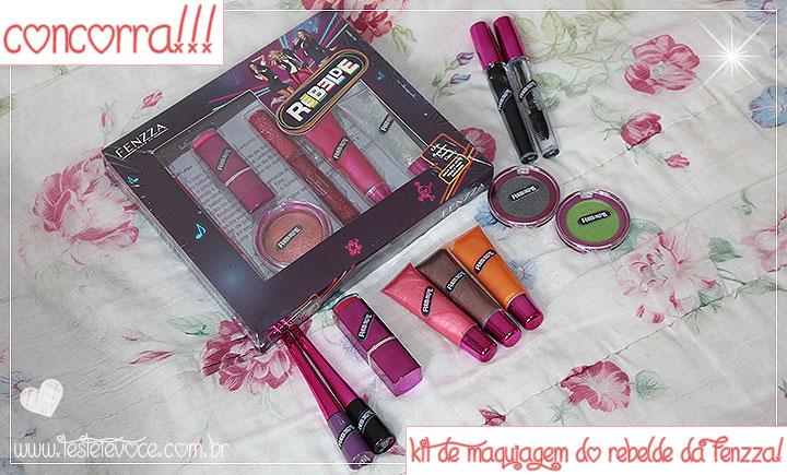[CONCORRA] Kit de Maquiagem Rebelde - Fenzza