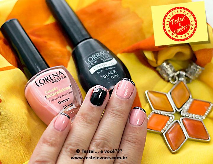 Esmaltes Damas e Black - Lorena e Lorrac #OutubroRosa