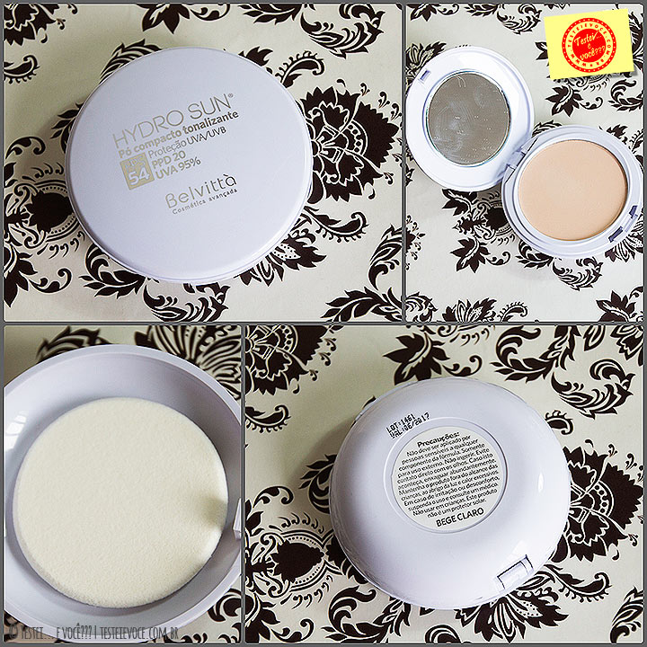 Hydro Sun Gel Creme Facial & Pó Compacto Tonalizante - Belvittà
