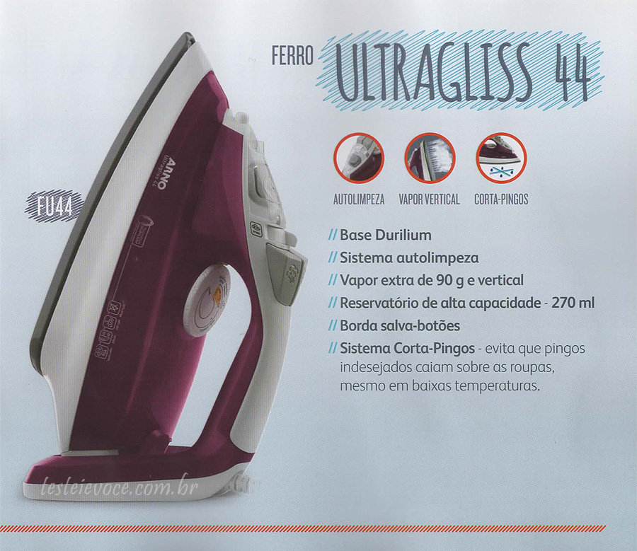 Ferro a Vapor Ultragliss FU44 - Arno