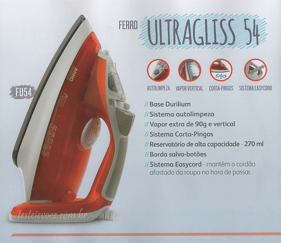 Ferro a Vapor Ultragliss FU54 - Arno